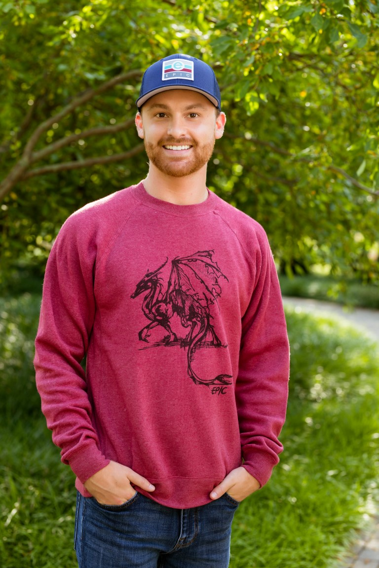 Unisex Raglan Pullover Sweatshirt - Drawn Dragon