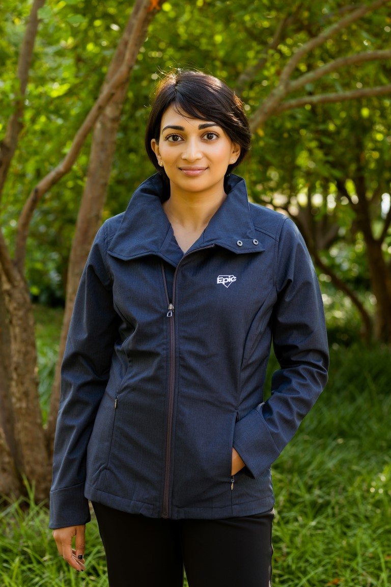Ladies Soft Shell Jacket with Convertible Collar