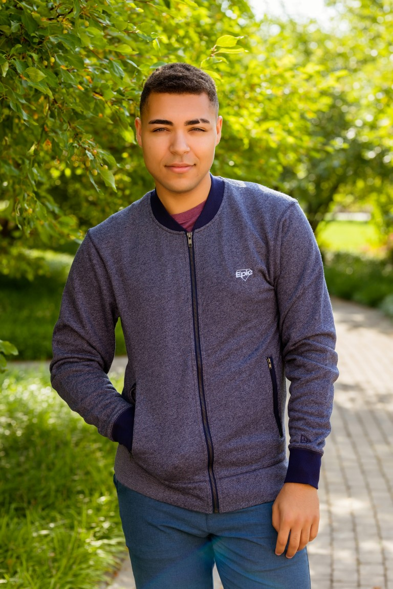 Men's French Terry Baseball Full Zip Sweatshirt