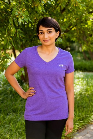 Ladies Short Sleeve V Neck T-Shirt